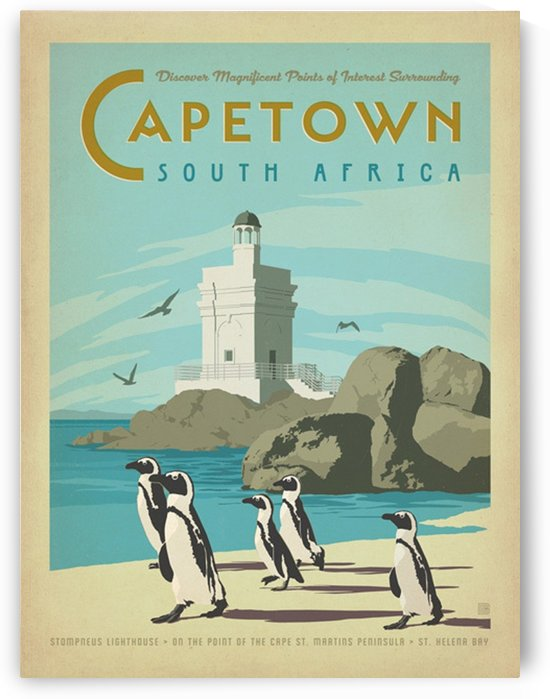 World Travel Poster Cape Town by VINTAGE POSTER