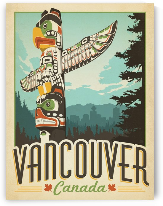Vancouver Canada vintage travel poster by VINTAGE POSTER