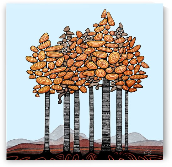 Birch Stand by Katelynn Clarey