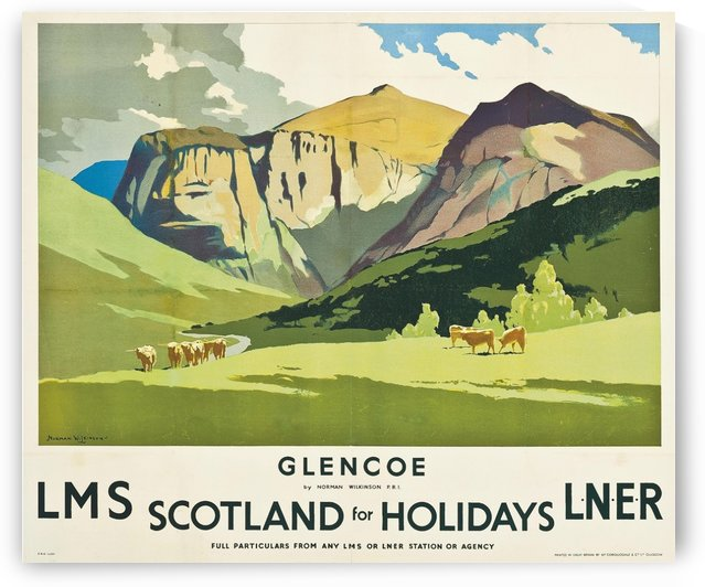 Scotland for holidays travel poster by VINTAGE POSTER