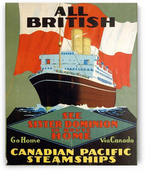 Canadian Pacific Steamships All British vintage poster by VINTAGE POSTER