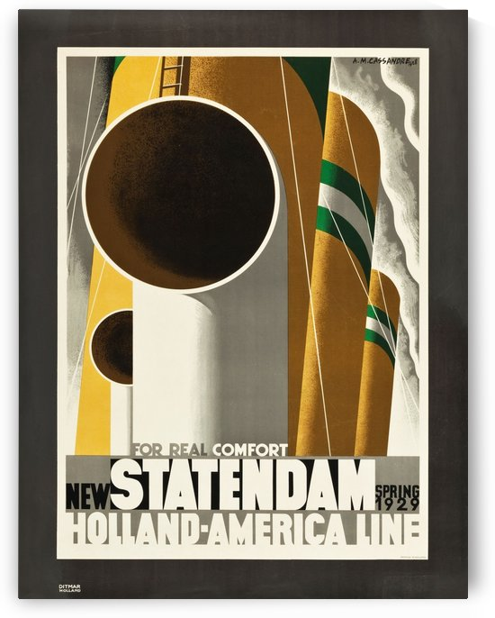 Statendam Holland-America Line Travel Poster in 1929 by VINTAGE POSTER