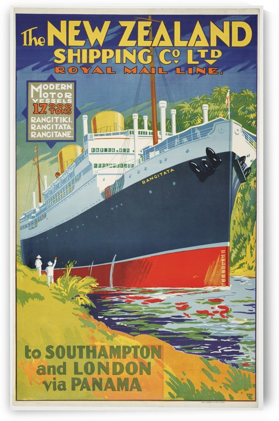 The New Zealand Shipping Company Limited vintage poster by VINTAGE POSTER