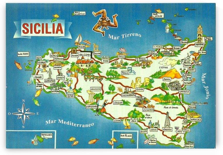 Daniele Pennisi vintage poster for Sicilia by VINTAGE POSTER