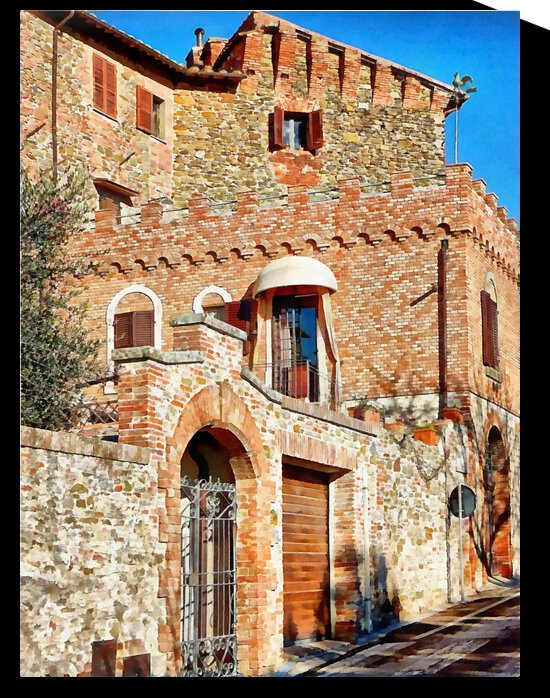 Buildings In Full Sunshine Panicale by Dorothy Berry-Lound