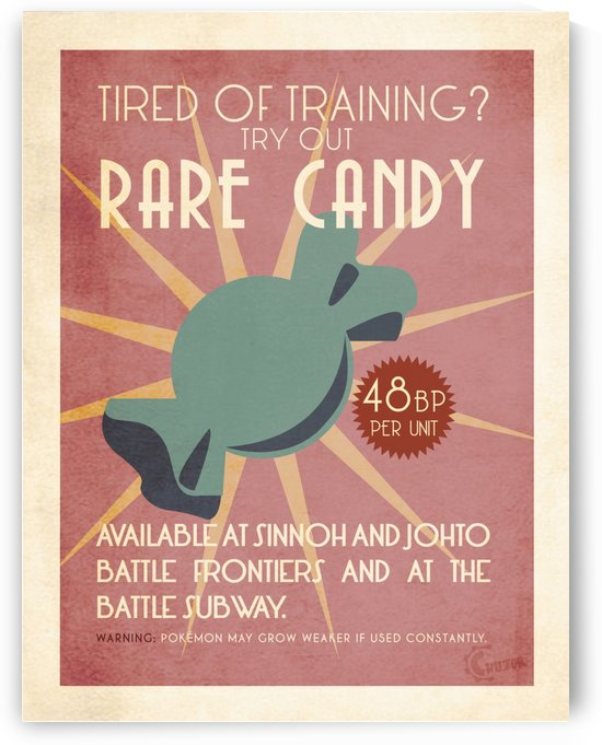 Rare candy vintage advertising poster by VINTAGE POSTER