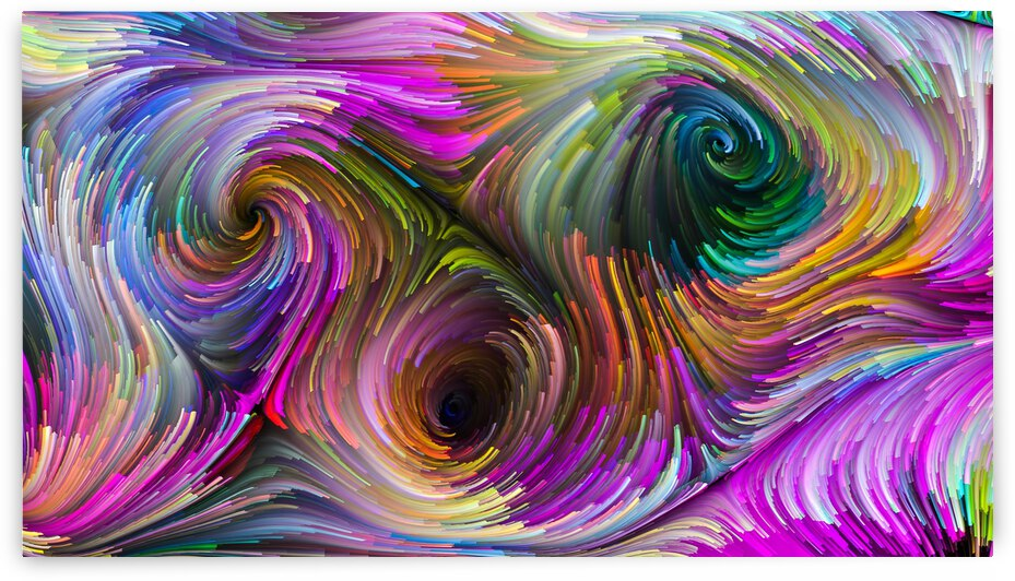 Colorful Rainbow Swirls Wall Art by Jon Meko