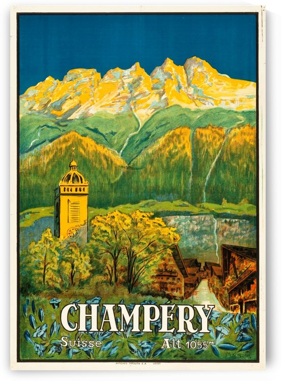 Champery, Switzerland Travel Poster by VINTAGE POSTER