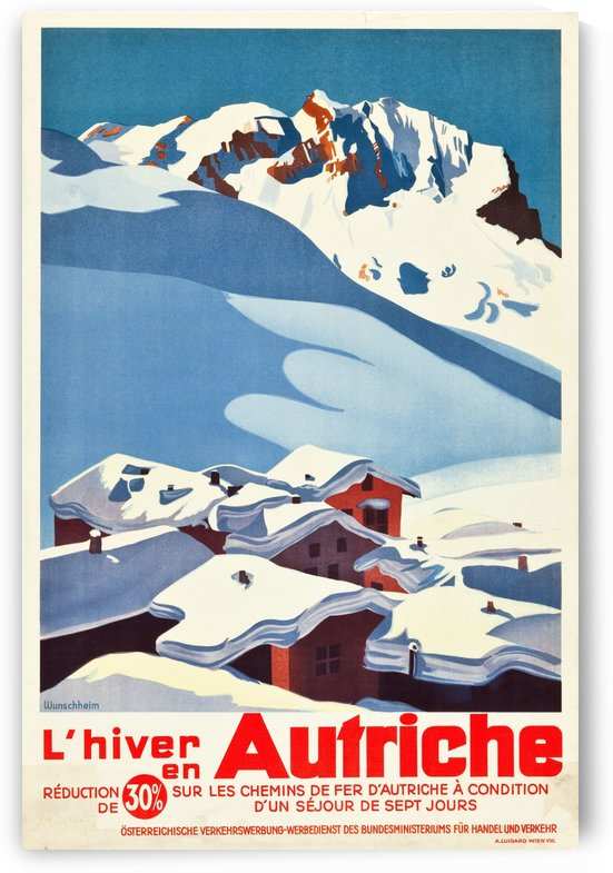 Austrian Travel Poster by VINTAGE POSTER