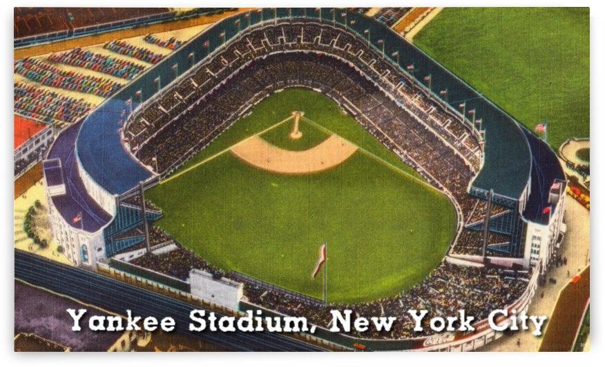 Vintage Yankee Stadium Postcard Art by Row One Brand