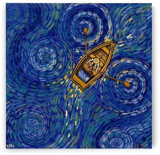 Boating on the starry river by Children s Charity Painting Fund