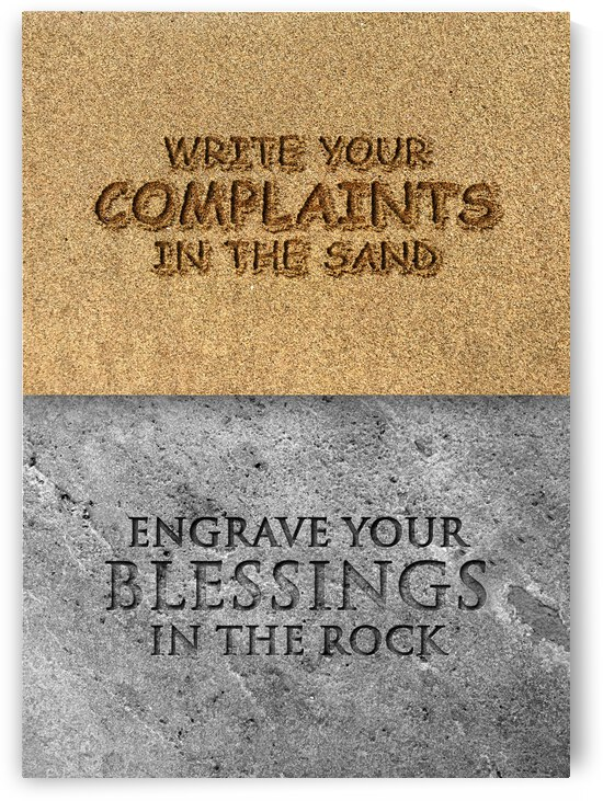 Engrave Your Blessings Motivational Wall Art by ABConcepts