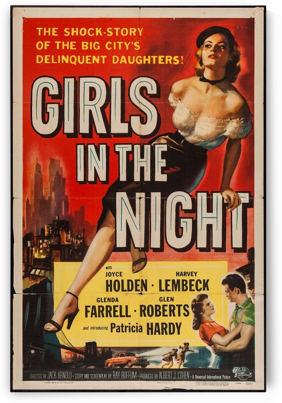 Girls in the Night Vintage Film Poster by VINTAGE POSTER