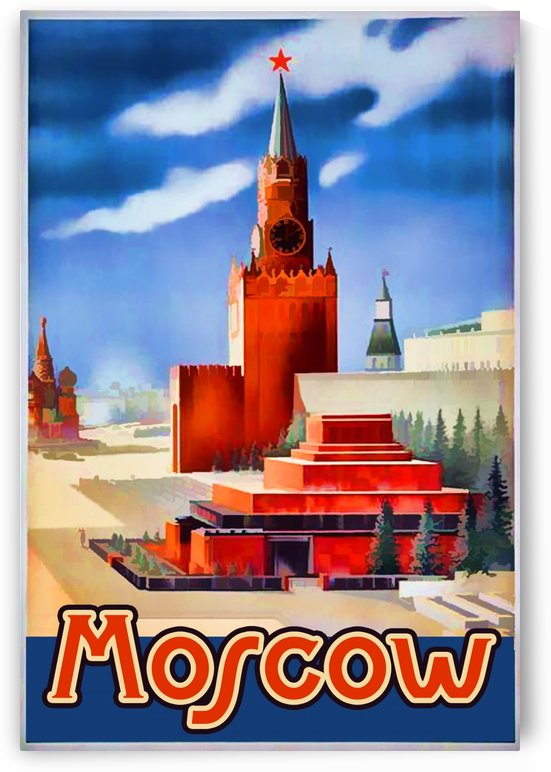 Imperial Airways travel poster for Moscow by VINTAGE POSTER
