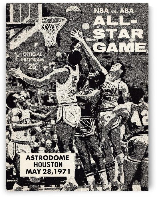 1971 NBA vs. ABA All-Star Game Program Art by Row One Brand