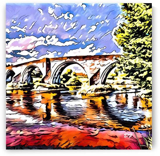 Ancient Bridge_IMG 6260_cartoon modern style by Darrell L Foltz