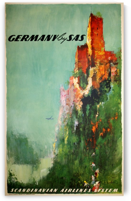 Scandinavian Airlines System Poster for Germany by VINTAGE POSTER