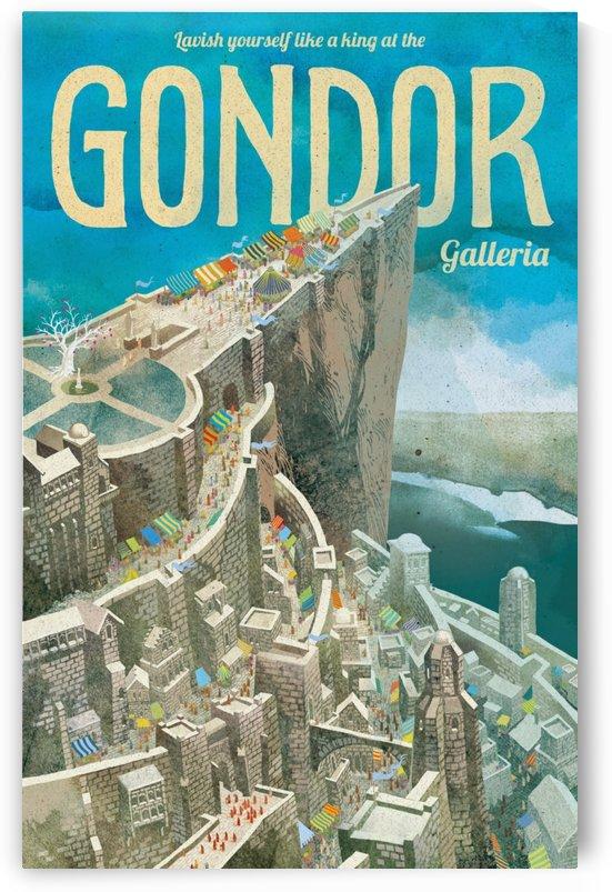 Gondor vintage poster by VINTAGE POSTER