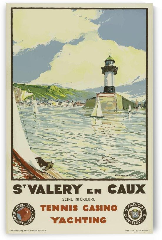 Vintage Travel Poster St Valery En Caux France by VINTAGE POSTER