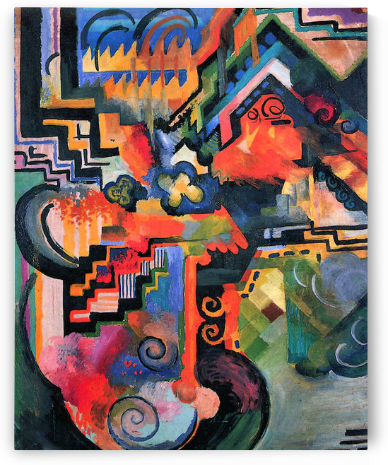 Color Composition (I) by August Macke by August Macke