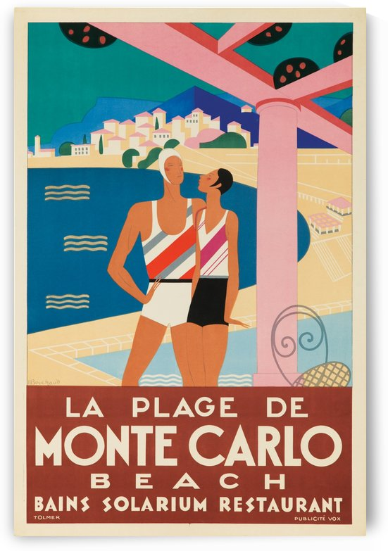 Monte Carlo Beach by VINTAGE POSTER
