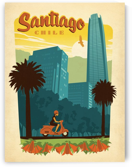 Santiago Chile travel poster by VINTAGE POSTER