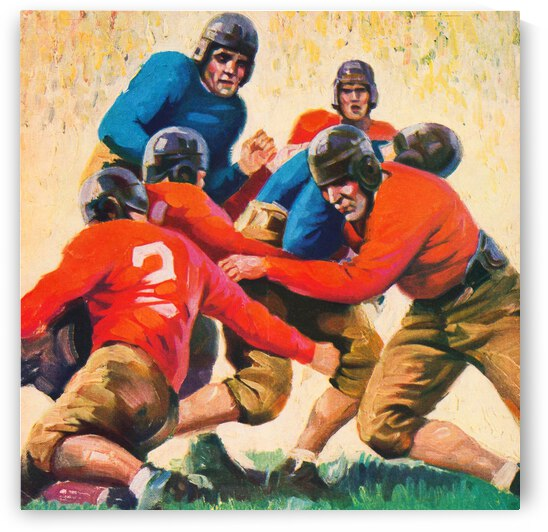 1937 Vintage Football Art by Row One Brand