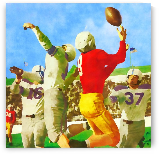 1947 Vintage Football Art Gift Idea by Row One Brand
