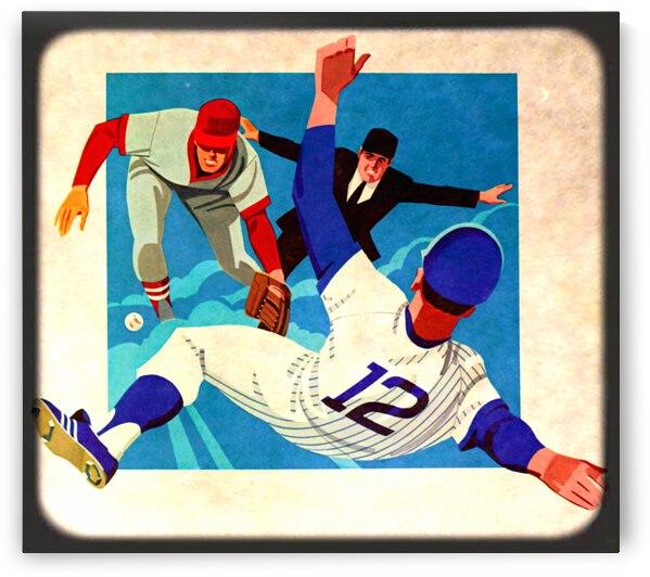 1981 Retro Viewfinder Slide Baseball Art by Row One Brand
