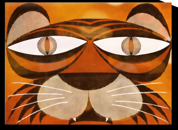 Vintage Tiger Art by Row One Brand
