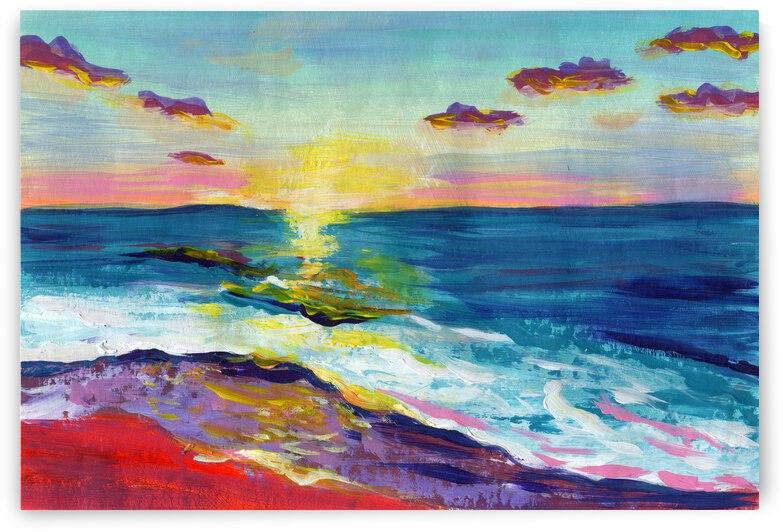 Abstract sunset beach by Anna Ponomarenko