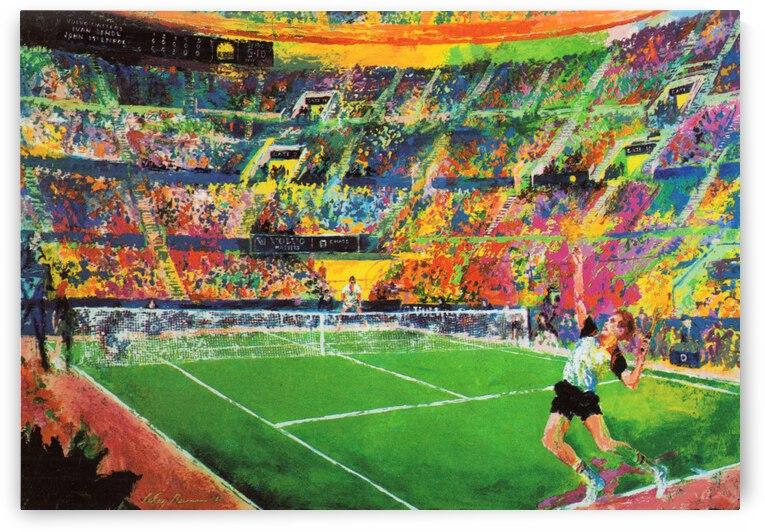 1984 John McEnroe vs. Ivan Lendl Tennis Art by Row One Brand