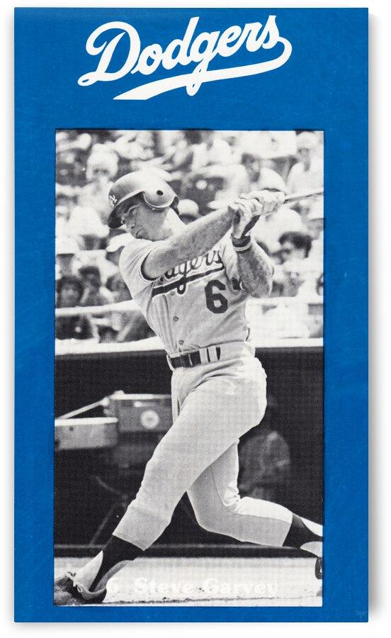 1977 LA Dodgers Retro Steve Garvey Poster by Row One Brand