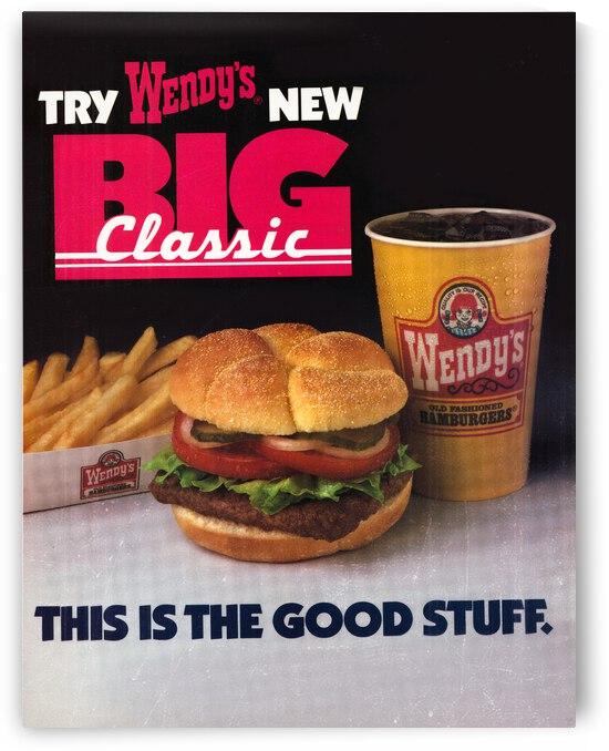 1984 Wendys Big Classic Hamburger Ad by Row One Brand