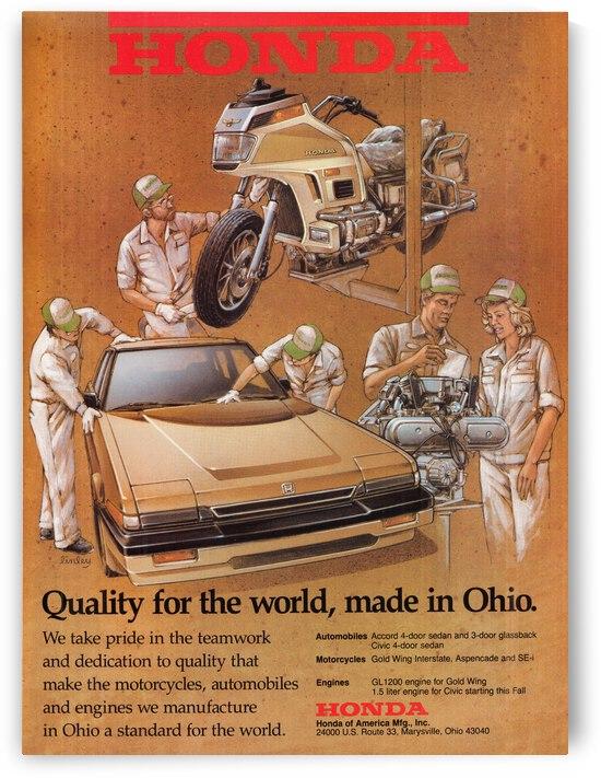 1984 Honda Advertisement Wall Art by Row One Brand