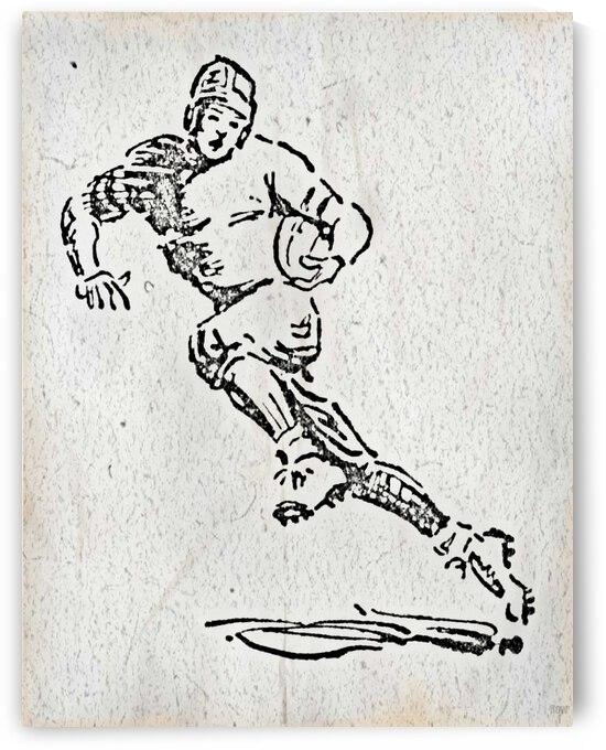 1938 Football Sketch Art by Row One Brand