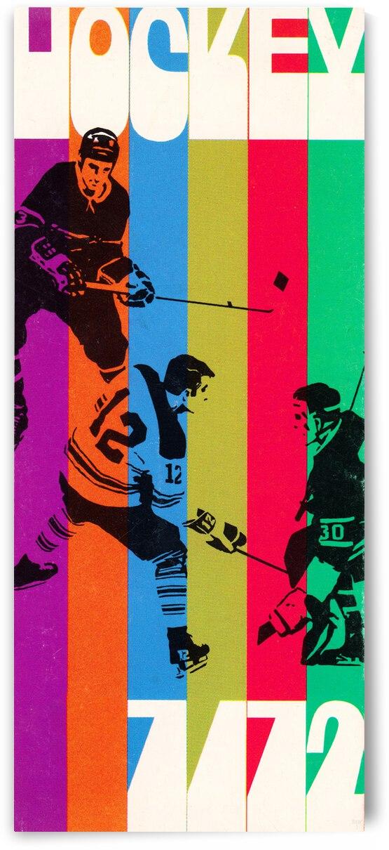 1972 Retro Hockey Art by Row One Brand