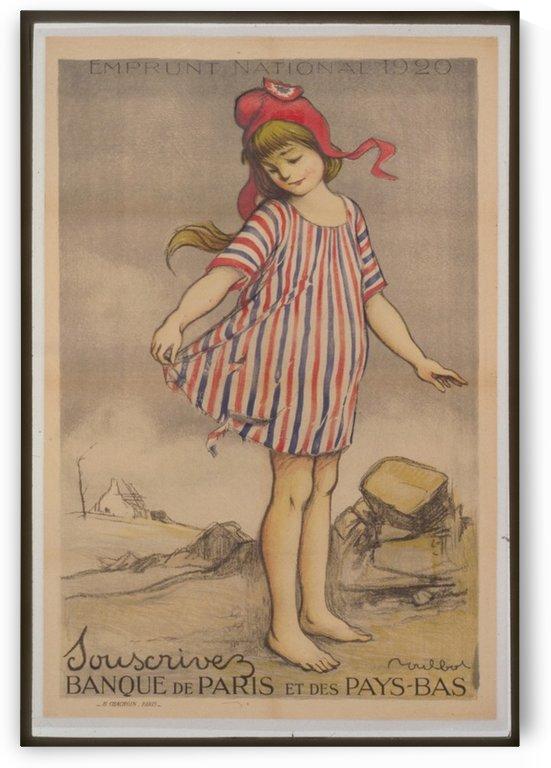Vintage---Little-Girl by VINTAGE POSTER