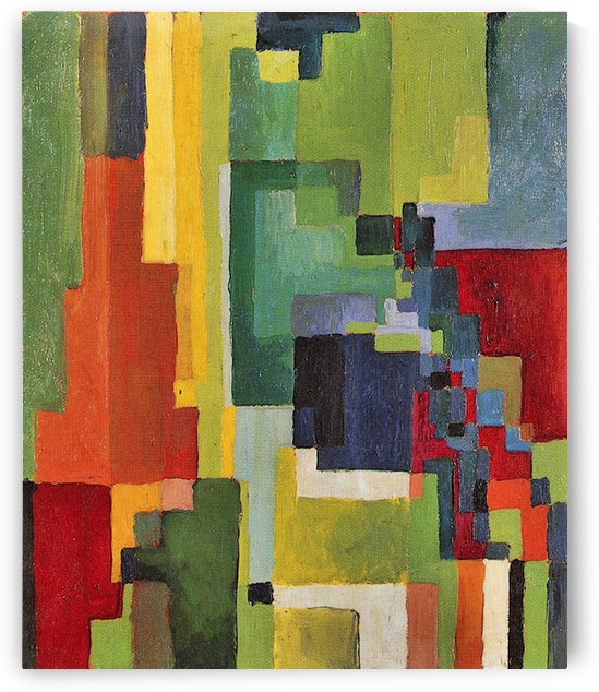 Colored forms (II) by August Macke by August Macke