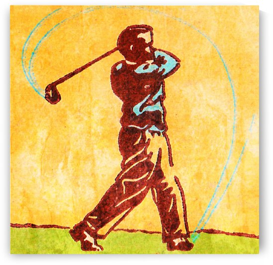 Vintage Golf Art by Row One Brand