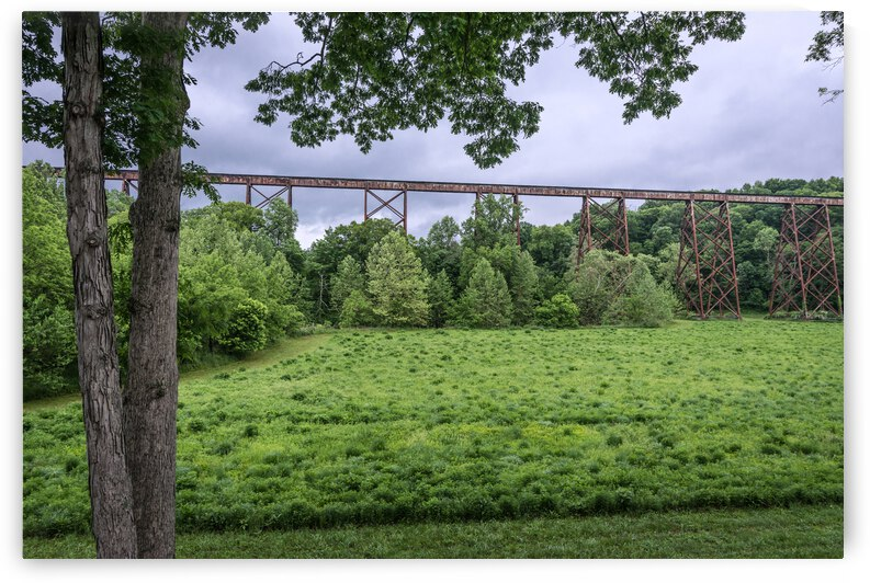 Tulip Trestle Summer Storm - Bloomfield - Indiana by Gary Whitton