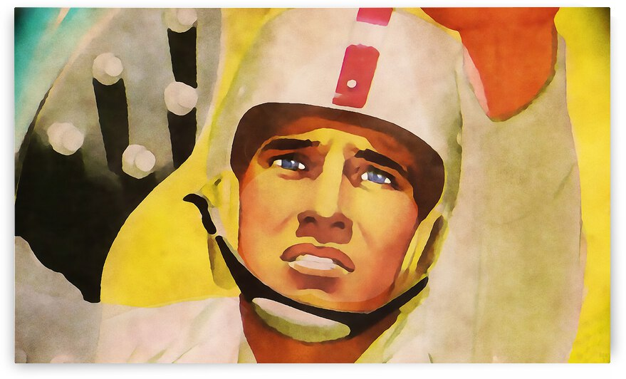 1956 Football Punter Wall Art by Row One Brand