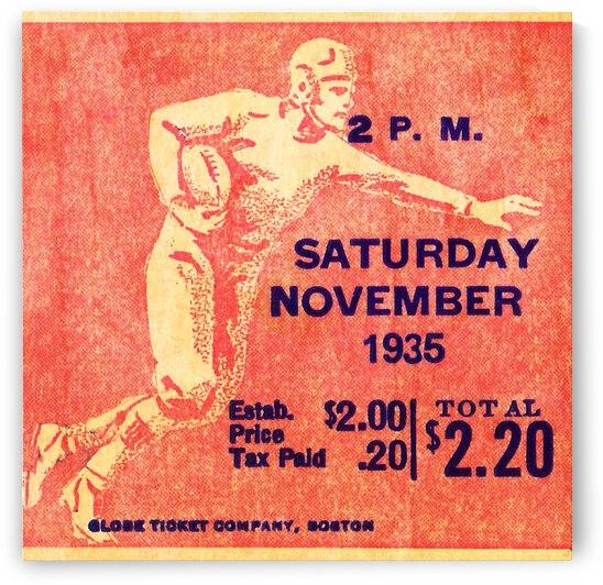 1935 Football Ticket Stub Remix Wall Art by Row One Brand