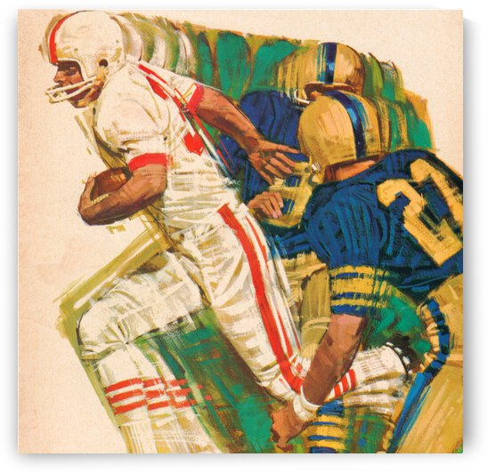 1966 Retro Football Action Art by Row One Brand