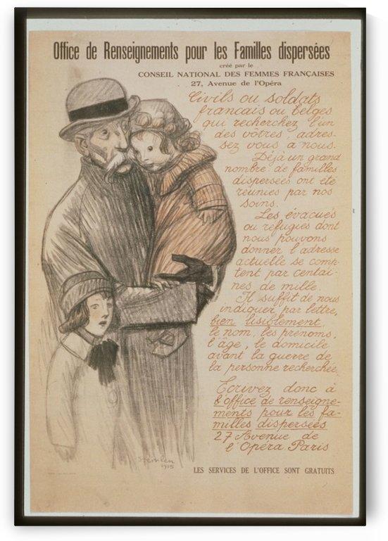 Vintage---Old-man-with-children by VINTAGE POSTER