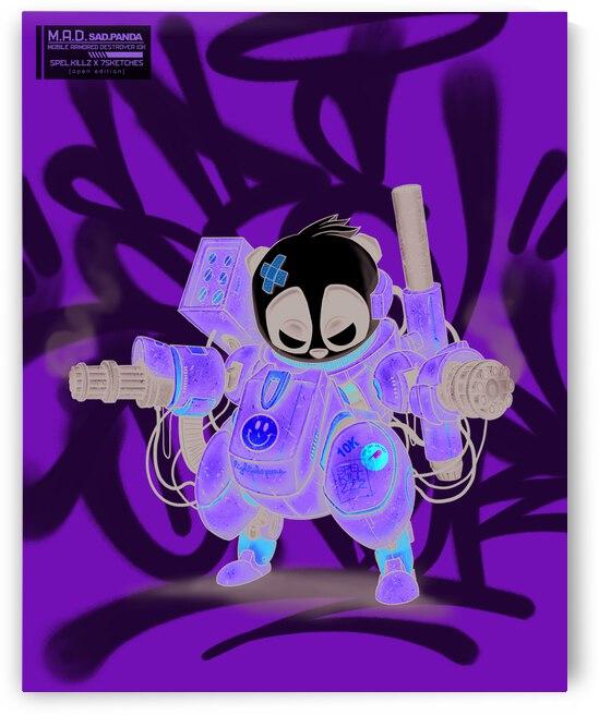 [M]obile.[A]rmored.[D]estroyer P-10K Sad Panda in Spel Vision - 8 x 10 Print by SpelKillzzz