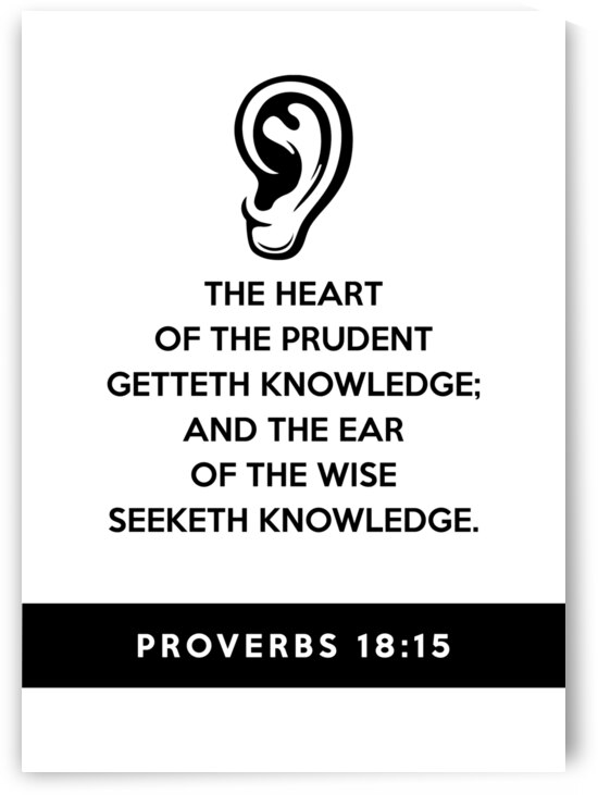Proverbs 18 15 white by ABConcepts