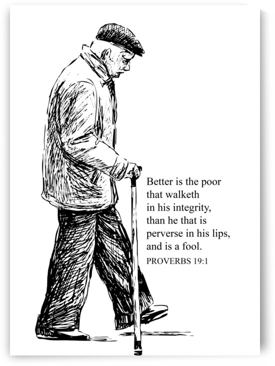 Proverbs 19 1 white by ABConcepts