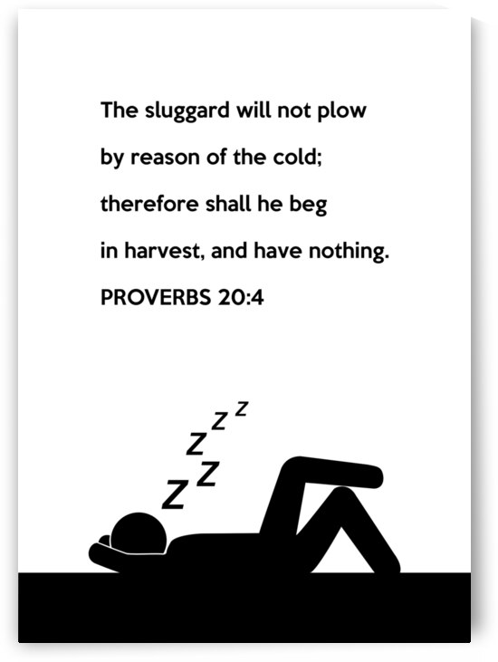 Proverbs 20 4 white by ABConcepts