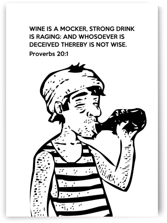 Proverbs 20 1 white by ABConcepts